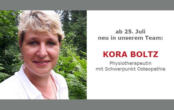 Neu im Team ab 25.7. – Kora Boltz